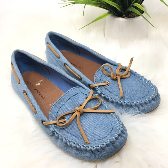 3644dd6d2fd Lucky Brand Shoes - Lucky Brand denim blue moccasins loafer